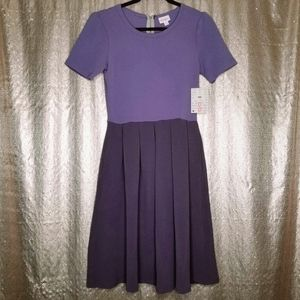 LuLaRoe BNWT S Amelia dress - purple colorblock 💜